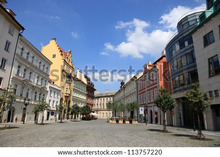City Center of Prague, Czech Republic - stock photo