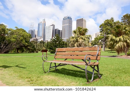 City central business district in Sydney, Australia - stock photo