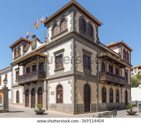 city council  in Teror, Canary Islands, Spain