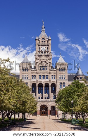 City & County Building in Downtown Salt Lake City, Utah - stock photo