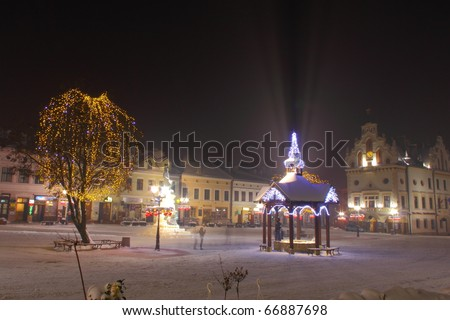 City decorated by christmas illumination