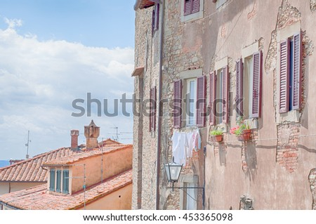 city details of Cortona: Tuscany, Italy - stock photo