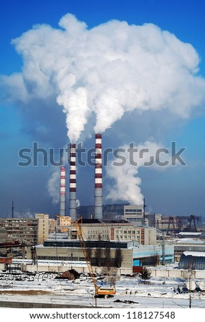 City Energy and Warm Power Factory in very cold winter season