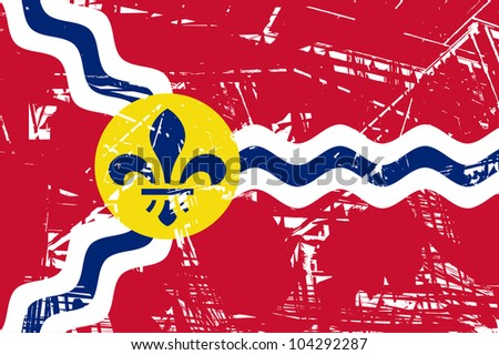 City flag of St Louis city in Missouri in the U.S.A.