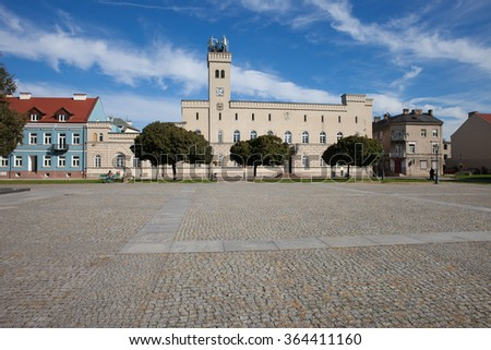 City Hall and Old Town Square in Radom, Poland