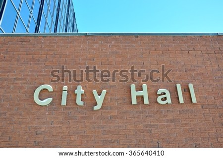 City Hall building - stock photo