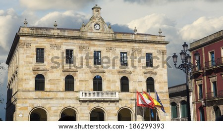 City Hall Building in Gijon, Spain