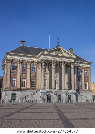 City hall in the center of Groningen, Holland