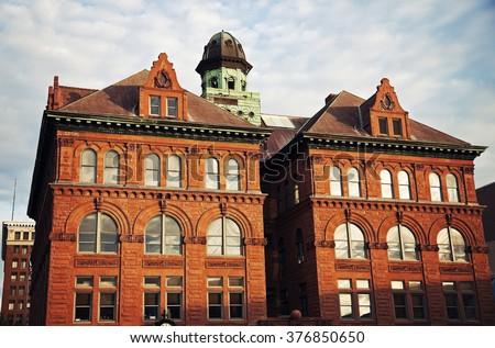 City Hall in the center of Peoria, Illinois - stock photo