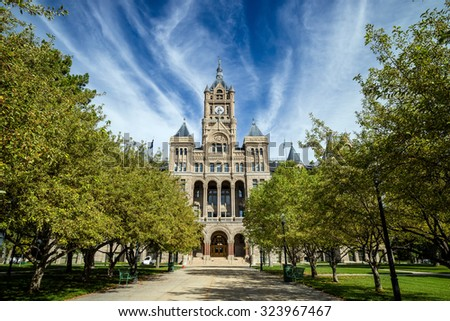 City hall of salt lake city in Utah USA