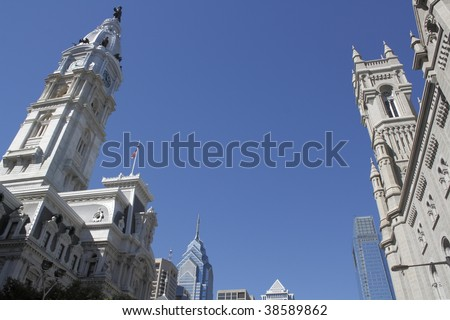 City Hall, Philadelphia, PA, with Liberty Place and Comcast Building in background