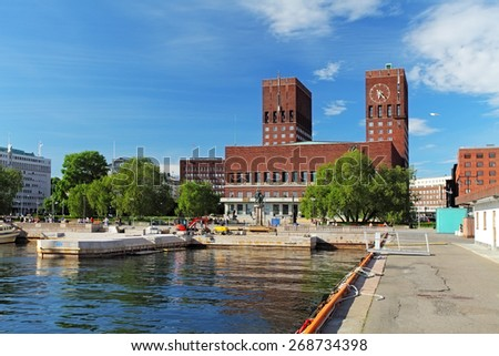 City Hall - Radhuset, Oslo, Norway - stock photo