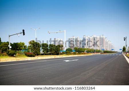 City highway - stock photo