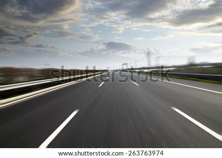city Highway background - stock photo