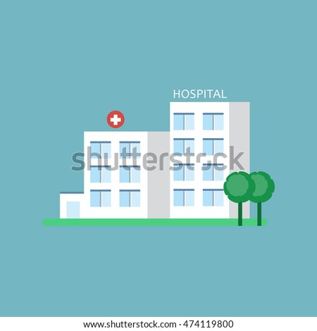 City hospital building flat style stock vector 237369187 city hospital building medical center icon malvernweather Images