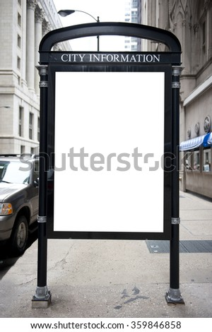 City Information Board - stock photo