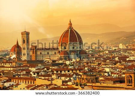 City landscape, Florence, Tuscany - stock photo