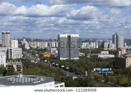 City landscape in Moscow. Russia