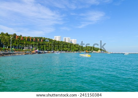 City landscape of Pattaya city, Thailand - stock photo