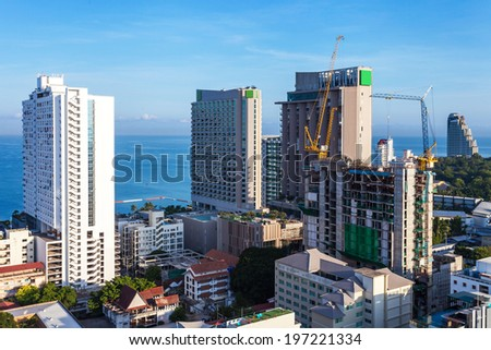 City landscape of Pattaya, Thailand