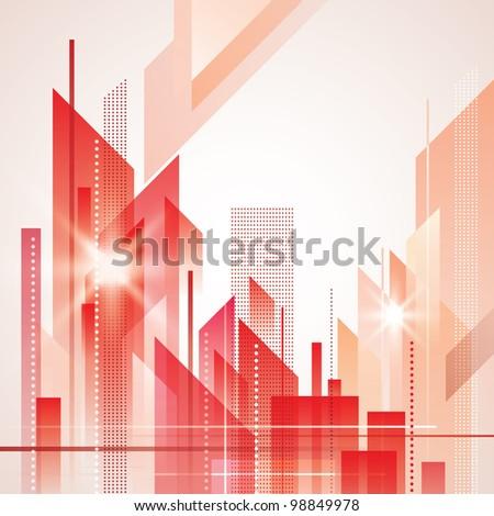 City Landscape. Raster version - stock photo