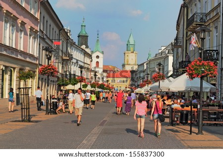 City Life in Lublin - stock photo