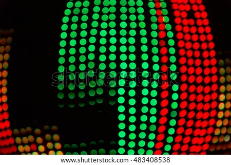 city lights abstract circular bokeh background