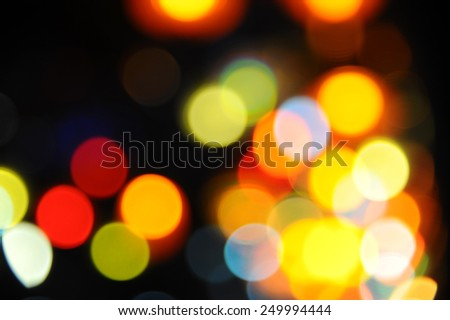 city lights in the background with blurring lights - stock photo