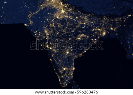 City lights on world map india stock photo 596280476 shutterstock city lights on world map india elements of this image are furnished by nasa gumiabroncs Choice Image