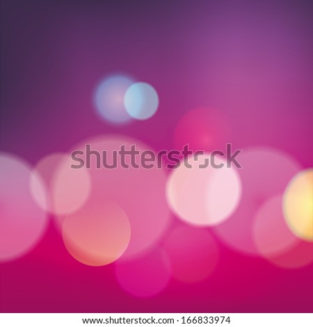 City lights with blurring lights effect in the background. - stock photo