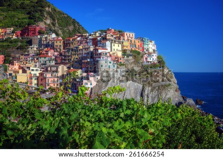 city manarola in cinque terre, Italy - stock photo