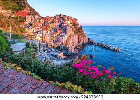 City Manarola In Cinque Terre Italy