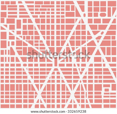 City map of the area of urban neighborhoods, houses and roads. It can be used as background urban design - stock photo