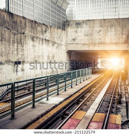 City Metro Rail - stock photo