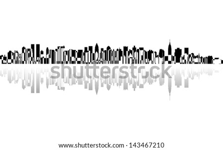 City New York panorama, - stock photo