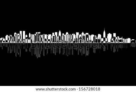 City New York panorama - stock photo