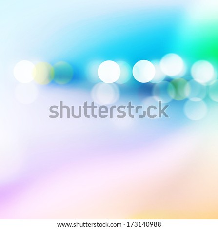 City night, Abstract background with bokeh defocused light. - stock photo