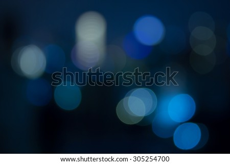 City night bokeh