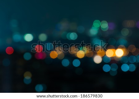 City night light blur bokeh , defocused background - stock photo