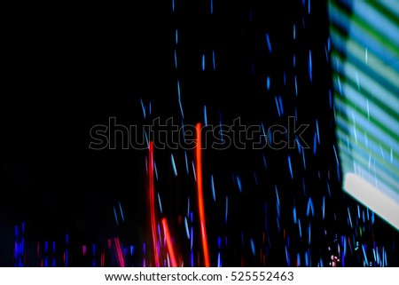 City night lights,Abstract blurred lights motion background.