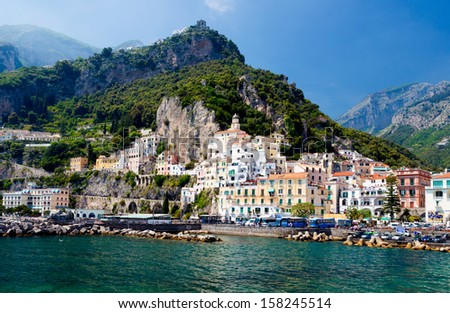 City of Amalfi, Italy - stock photo