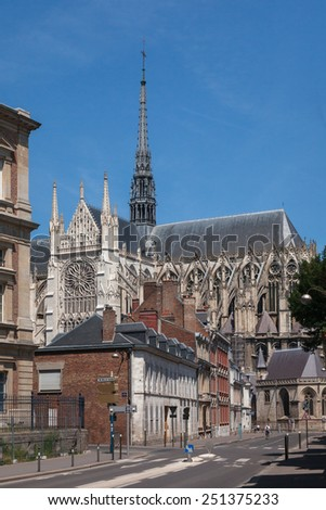 City of Amiens and Cathedral, France