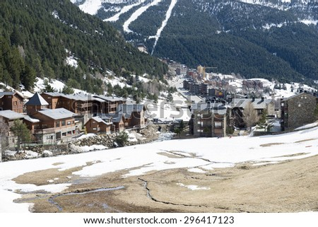 city of Andorra La Vella view from the mountain