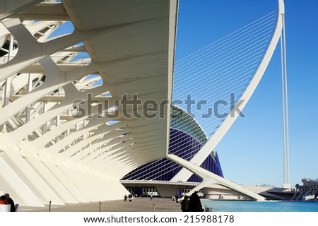 city of Arts and Sciences - stock photo