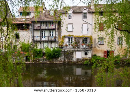 City of Aurillac, Cantal, France - stock photo