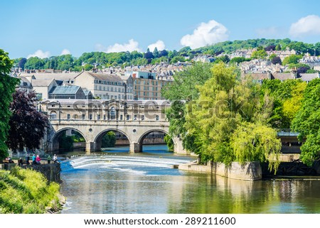 City of Bath, Somerset, England  - stock photo