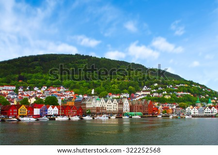 city of Bergen, Norway - stock photo