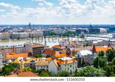 City of Budapest,, Hungary - stock photo