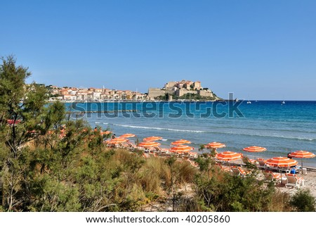 City of Calvi (Corsica) - stock photo