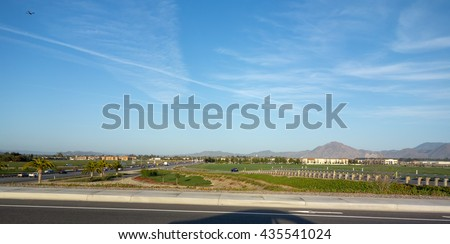 City of Camarillo as seen from its North side along State highway 101, Ventura county, California - stock photo